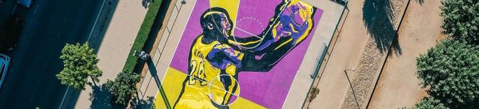 Balaguer homenatja Kobe Bryant amb una nova pista de bàsquet