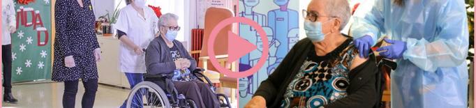 ⏯️ Josefa Pérez, de 89 anys, primera persona vacunada contra la covid-19 a Catalunya