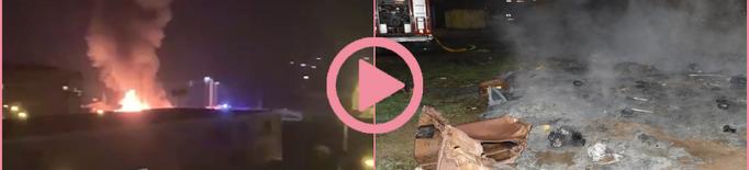 ⏯️ Calcinats uns 50 contenidors en desús a Pardinyes