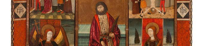 El Museu de Lleida rep en dipòsit el retaule gòtic de Sant Bartomeu de l'església de Capella, propietat de Tatxo Benet