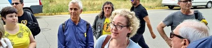Mostres de suport a la presidenta de l'ANC a Lleida per una agressió després d'un acte per les llibertats