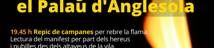 El Palau d'Anglesola celebrarà una revetlla de Sant Joan adaptada a la pandèmia