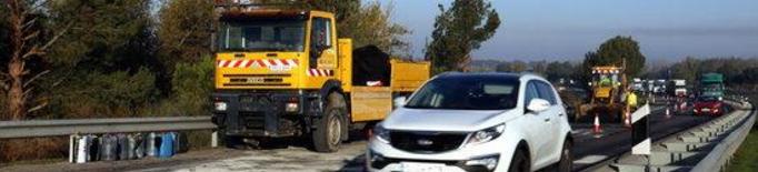 ACTUALITZACIÓ: Reoberta l'A-2 a Alcoletge amb un carril operatiu per sentit