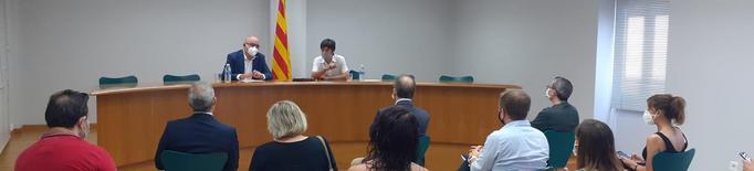 El conseller d'Educació visita el terreny on s'efectuaran les obres de l'Escola Arnau Berenguer al Palau d'Anglesola