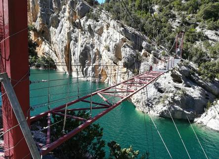 La passarel·la de Mont-rebei reobre avui després de 4 mesos