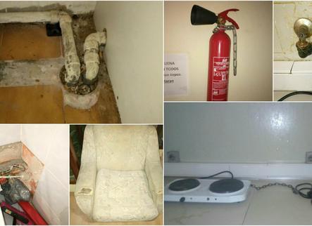 Denuncien les males condicions de l'hotel on la Paeria reallotja les famílies amb emergència habitacional