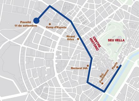 Rua del Lleida Llista pels carrers de Lleida per celebrar el seu segon títol europeu