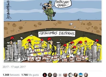 Assange reclama a twitter el Referèndum amb un acudit del col·laborador de Lleida.com Jordi Balasch