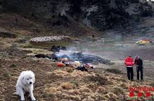 Un pastor passa la nit al ras al cremar la cabana
