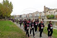 Lleida i Balaguer caminen contra la violència masclista