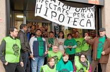 Protesta de la PAH contra Catalunya Caixa a Lleida, Tàrrega i Sort