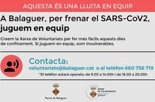 Balaguer crea una xarxa de voluntariats per col·laborar amb persones vulnerables