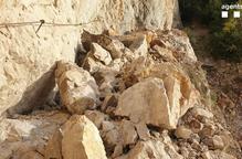 Una esllavissada malmet el camí del congost de Mont-Rebei i obliga a tancar totes les vies d'accés