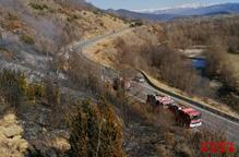 Dos incendis de vegetació cremen més de 5 hectàrees a la Segarra i la Cerdanya