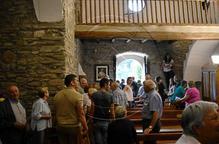 Veïns de les Valls d'Aguilar restauren les esglésies per mantenir-les obertes