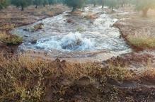 Rebenta una canonada que inunda finques i danya camins a les Borges