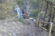 Instal·len una barana a la cascada de Noarre, a Tavascan