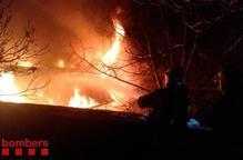 S'incendia una teulada a Bellver de Cerdanya