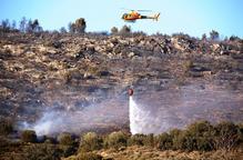 Un incendi forestal crema 12,5 hectàrees a la Noguera