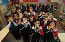 Fruita a tones per a escoles de Lleida