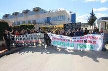 Protesta a la planta de Tracjusa a Juneda