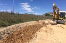 Fraga construeix un col·lector vora l'N-211 i evitarà inundacions