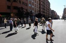 Veïns formen un pas zebra humà a Príncep de Viana