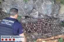 Troben 126 granades de la Guerra Civil a Gerri de la Sal