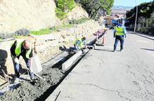 Obres de renovació de la Baixada del Calvari d'Almenar