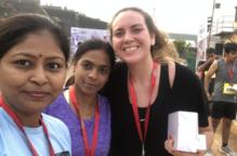 La lleidatana Elena Aguilar participa en la mitja marató de Barcelona per ajudar les dones de l'Índia