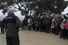 Homenatge als dos rurals tirotejats per un caçador a Aspa fa dos anys
