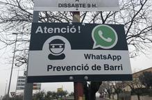 Un barri d'Agramunt avisa possibles lladres que els controla per WhatsApp