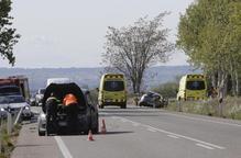 Retencions a l'N-240 a Lleida per un xoc