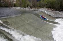 El ràfting obre la temporada amb 50 km navegables a la Pallaresa sense obstacles
