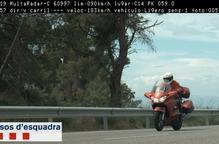 'Caçat' un motorista a 186 km/h per la carretera C-14 a Ciutadilla