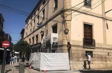 Les Borges restaura la façana de l'ajuntament