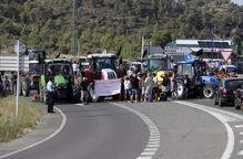 Quart diumenge de talls a la C-12 pels afectats del foc de la Ribera d'Ebre