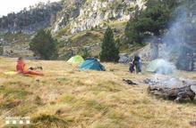 Noves multes per acampada il·legal a la perifèria d'Aigüestortes