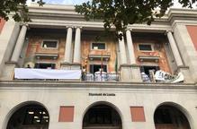Les pancartes de la Diputació, 'en blanc' per una denúncia de Cs
