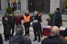 La Marea Pensionista reuneix una vintena de persones a Lleida