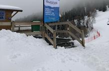 Les pistes, amb bons gruixos, a l'espera de més neu avui