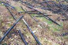 Sense telèfon pel robatori de cable a la Vall del Corb