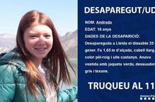 Demanen ajuda per trobar una jove desapareguda a Lleida