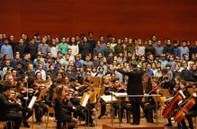 Alumnes del Conservatori reviuen Beethoven en un Auditori ple