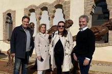 Visita cultural d'Eduardo Chillida fill a Almacelles