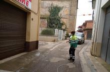Els municipis intensifiquen els treballs de desinfecció