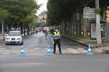 Arxiu vianants guàrdia urbana carrer tallat avinguda de Madrid