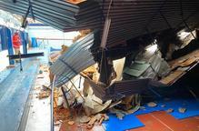 El col·legi Mirasan haurà de canviar tota la coberta del pavelló per l'esfondrament