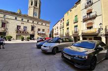 La plaça Major de Cervera es queda sense aparcaments