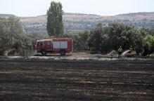 Calcinades dos hectàrees de vegetació agrícola entre Cubells i Montgai
